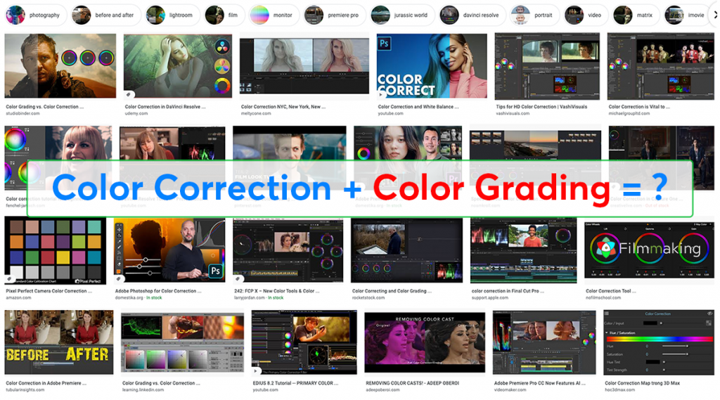 color correction + color grading